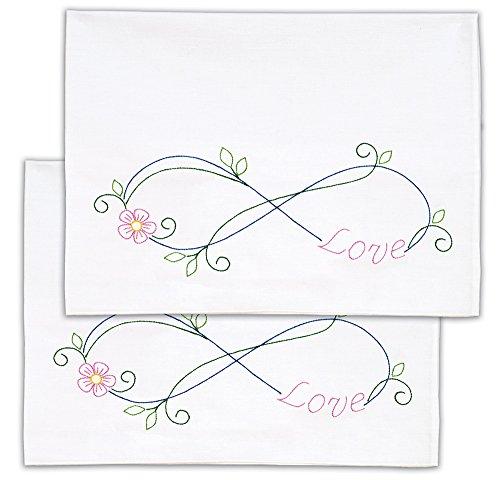 Jack Dempsey Pillowcase Lace - Jack Dempsey Needle Art Infinity Pillowcase, Standard