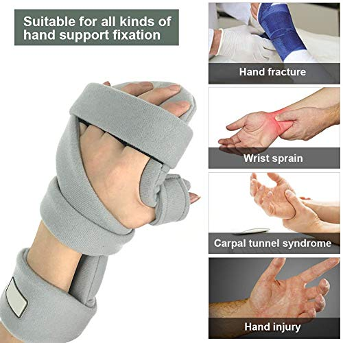 - Fingerboard Hand Wrist Fracture Resting Hand Splint Night Wrist Thumb Immobilizer Support for Pain Tendinitis Sprain Fracture Dislocation - Right