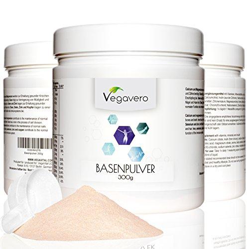 Vegavero Veganes Basenpulver Multifrucht | 300g | Kombipräparat für Säure-Basen-Haushalt ▪ Stoffwechsel ▪ Knochen | mit Mineralstoffen | ohne chemische Zusätze