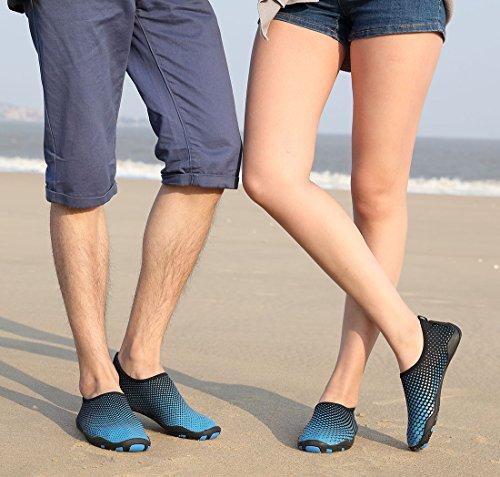 Schuhchan Männer Frauen Barfuß Quick-Dry Wassersport Aqua Schuhe für Beach Pool Surf Yoga Blau
