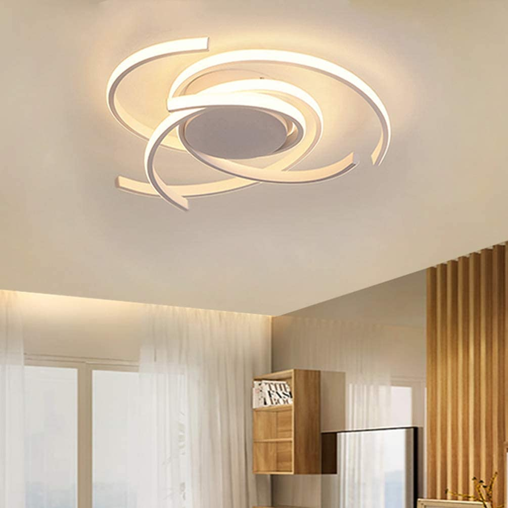 LED Bedroom Light Modern Chic Design Flush Mount Ceiling Lamp Dimmable  Acrylic Panel Unique Minimalist Livingroom Pendant Light with Remote  Control
