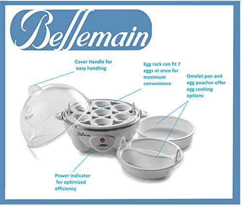 Bellemain ZDQ-70A UIUIUS Multi-Function Cooker Boils Eggs, Mak, 6.3 x 7.3 x 7.75 in in, White by Bellemain (Image #2)