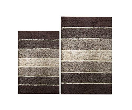 Chardin Home - 100% Pure Cotton - 2 Piece Cordural Stripe Ba