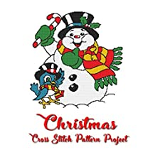 Christmas Cross Stitch Pattern Project: Holiday patterns for Cross Stitch, Perler, Qixels, Hama, Simbrix, Fuse, Melty, Nabbi, Pyslla and more! (Cross Stitch Pattern Books Book 1)