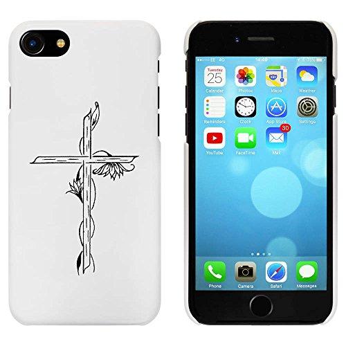 Blanc 'Croix et Fleurs' étui / housse pour iPhone 7 (MC00080628)