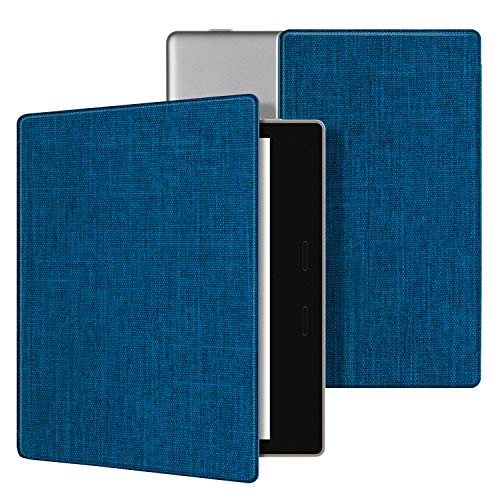 Ayotu Fabric Case for Kindle Oasis(9th Gen, 2017 Release)Thinnest and Lightest,Durable Soft Fabric Cover with Auto Wake/Sleep Function,Strong Adsorption for All-New 7Kindle Oasis Case,KO-09 The Blue