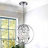Globe Chandeliers Crystal Chrome Chandelier
