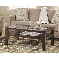 Deagan Dark Brown Color Rectangular Cocktail Table