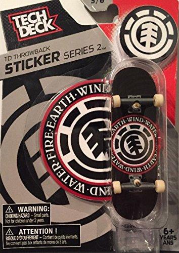 Series 2 EARTH WIND WATER FIRE Tech Deck Fingerboard Skateboard 5/6 ()