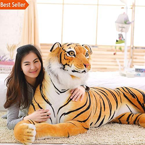 Minian Lifelike Tiger Plush Toys   Soft Stuffed Animals Simulation Tiger Doll Sleeping Pillow Children Kids Birthday Gifts (Brown, 30cm) -