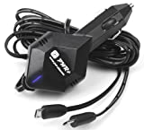 Pwr+ 6.5 Ft 4A Rapid Car Charger Dual Adapter for Google-Nexus 7 9 10 Tablet Tab; Samsung-Galaxy Tab 3, 4 7.0, Note 8.0; Nexus S Phone ; Asus-Transformer Book T100 Memo Pad 7, 8, 10 Hd FHD ZenPad MemoPad Smart; Galaxy S2, S3, S4, S6, S7 Edge; HTC; BLU Studio 5.0 5.5 6.0 7.0, One X Plus, Win HD, Life Play, Vivo Air, PURE XL Phone; Anker Battery DC Adapter Charger-Power-Cord