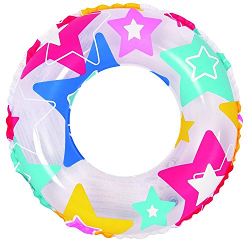 """Pool Central Colorful Star Print Inflatable Swimming Pool Inner Tube Ring Float, 24"""" -  NorthLight, 32041047"""