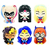 Basic Fun Mash'Ems Fash'Ems - DC Super Hero Girls 4 Pack (4 Blind Capsules Per Order) Squishy Collectible Toy