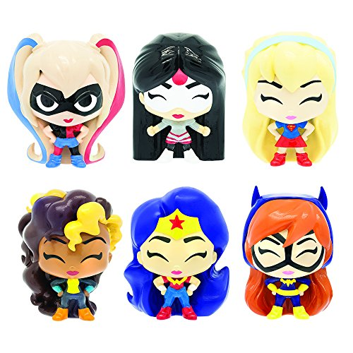 MashEms FashEms - DC Super Hero Girls  (4 Blind Capsules Per Order) Squishy Collectible Toy ) (Pack of 4 )