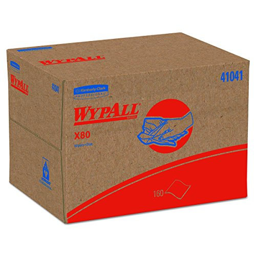 WypAll 41041 X80 Wipers, BRAG Box, HYDROKNIT, Blue, 12 1/2 x 16 4/5 , 160 Wipers Per Box