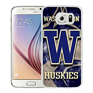 High Quality Samsung Galaxy S6 Skin Case ,washington huskies White Samsung Galaxy S6 Screen Cover Case Popular And Unique Custom Designed Phone Case