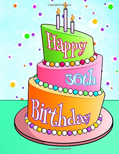"""Download Happy 36th Birthday: Discreet Internet Website Password Organizer, Birthday Gifts for 36 Year Old Men and Women, Brother or Sister, Son or Daughter, Mom or Dad, 8 1/2"""" x 11"""" PDF"""