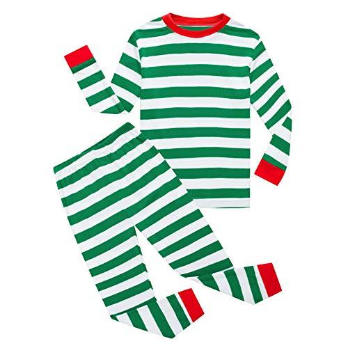 KikizYe Little Girls Boys Christmas Pajamas Sets 100%