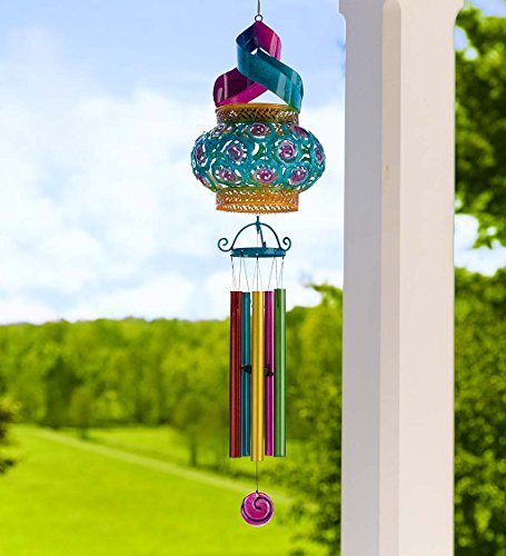 Cheap  Solar Powered Hanging Swirl Wind Spinner Sculpture - Wind Chimes - Tabletop..