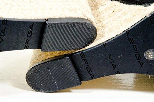 Fabric Grosgrain Sandal Open Via Black Skyler Toe Spiga Wedge Espadrille Iqvw4aC