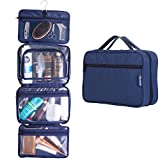 #2: Hanging Toiletry Travel Bag by GYNOM | Compact Toiletry Bag with Waterproof Zippered pockets, mesh pouch for toothbrush & Reliable Hook | Medium Cosmetic Kit Organizer, Hangs and Stands with ease