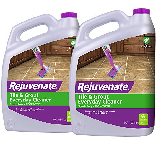 Rejuvenate Non-Toxic Bio-Enzymatic Safe and Scrub Free Tile and Grout Cleaner Lightens and Brightens Every Time