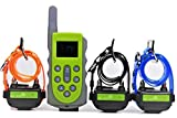 KOOLKANI 650 Yards Remote Dog Training Shock Collar Obedience Trainer:Rechargeable Waterproof Collar w/10 Levels of Adjustable Static Stimulation,Beep Tone and Vibration (3-Dog Collar Set)