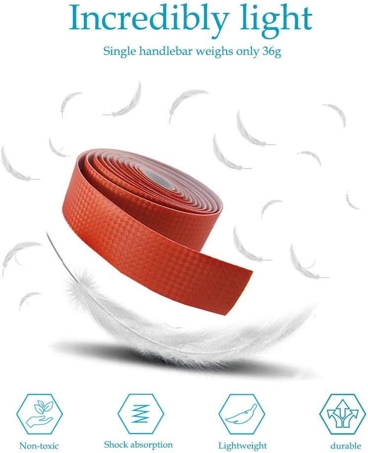 Shock Absorption 1Pair Non-slip Soft Foam Road Bike Bicycle Handlebar Bar Tape Wrap SENDILI Handlebar Tape