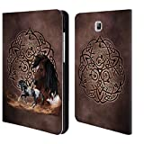 Official Brigid Ashwood Horse Celtic Wisdom Leather Book Wallet Case Cover For Samsung Galaxy Tab A 8.0