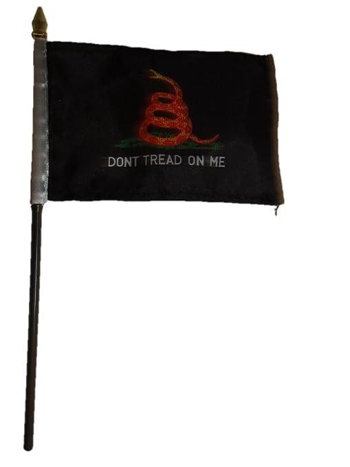 "Gadsden Black//Orange Don/'t Tread On Me Flag 4/""x6/"" Desk Table Stick"