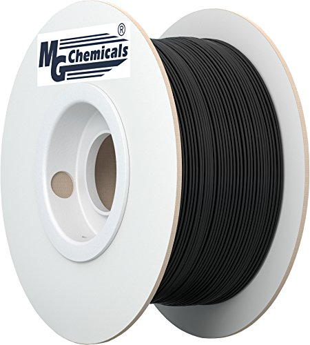 MG Chemicals PETG 3D Printer Filament, 1.75 mm, 1 kg, Black (IMPROVED)