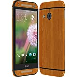 Skinomi TechSkin - HTC One Mini 2 / HTC One Remix Screen Protector + Light Wood Full Body Skin/ Front & Back Wrap / Premium HD Clear Film / Invisible & Anti Bubble Shield