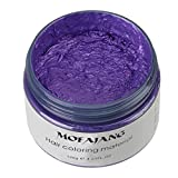 #8: ANMAS RUCCI Unisex DIY Hair Color Wax Mud Dye Cream Temporary Modeling 120g (Purple)