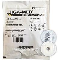 EKG Elektroden mit Festgel / Solidgel 45mm 100 Stück Einmalelektroden Einmal- Klebe- Elektroden Typ: Tiga-Med Profi Qualität!