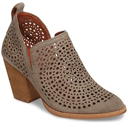 - Jeffrey Campbell Womens Rosalee C Taupe Suede Silver Boot - 8.5