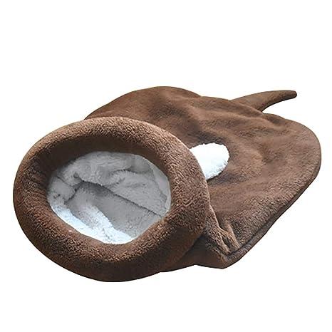DaoRier Saco de Dormir Casa para Mascotas Cama de Perro Gato Puppy Conejo Mascota Antideslizante Plegable