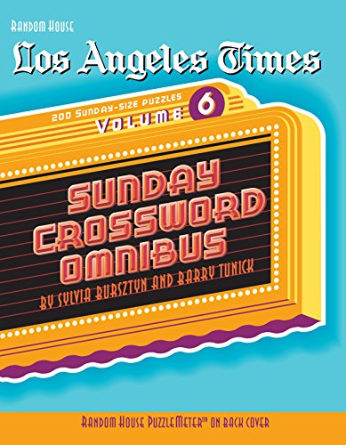 Los Angeles Times Sunday Crossword Omnibus, Volume 6 (The Los Angeles Times)