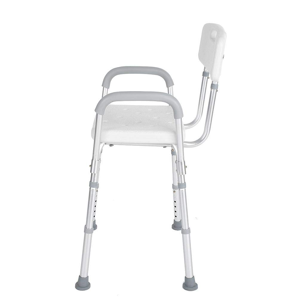 Shower Seat, Manufactured with High Polyethylene Material Adjustable Anti-Slip Detachable Bath Shower Stool for Pregnant Elderly Disabled Care by ZJchao (Image #7)
