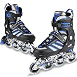 WeSkate Inline Skates for Adult Women Men Youth - Adjustable Size 7-9.5UK Rollerskates - Men Boy Fitness Breathable Switchable Skates for Beginner