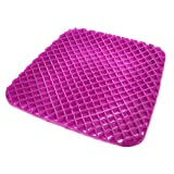 GENERAL ARMOR Premium All Gel Orthopedic Seat Cushion Pad for Car, Office Chair, Wheelchair, or Home. Pressure Sore Relief, Ultimate Gel Comfort, Prevents Sweaty Bottom, Durable, Portable, Purple
