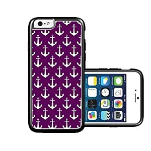 RCGrafix Brand Nautical-Anchors-Purple-Pattern iPhone 6 Case - Fits NEW Apple iPhone 6