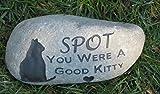 Pet Memorials, Pet Memorial Stones, Cat Memorials, Pet loss, Sympathy, Memorial Gifts, Gifts 9-10 Inch Riverstone