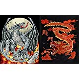 Reversible Heavy Weight (Aprox. 8lbs) Dragon of Chaos / Red Dragon Polyester Mink Blanket
