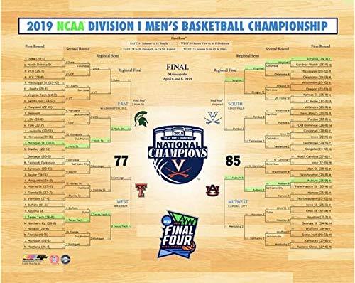 (NCAA Virginia Cavaliers 2019 Mens Basketball National Champions Bracket Photo (Size: 8