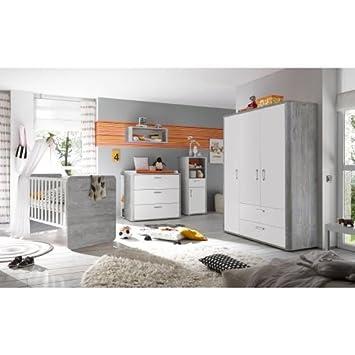 Mäusbacher Kinderzimmer Frieda 3-tlg. vintage wood grey: Amazon.de: Baby