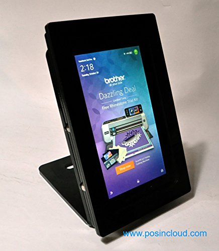 TABcare Security Anti-Theft Kit for Fire HD 8 Supports Kiosk, POS, Store, Show Display (Black Desktop Stand)