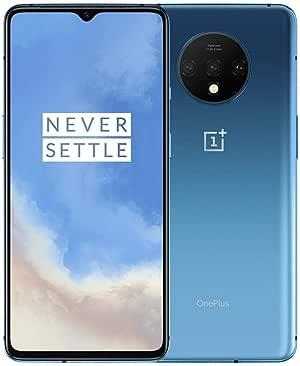 OnePlus 7T HD1900 256GB, 8GB, Dual Sim, 6.55 inch, 48MP Main Lens, Triple Lens Camera, GSM Unlocked International Model, No Warranty (Glacier Blue 256GB+8GB)