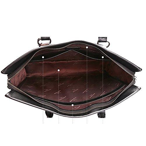 BINSON DENIM Herren Leder Aktentasche Herren Handtaschen Herren Umhängetasche Herren Laptop Tasche Hohe Qualität N2394