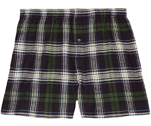 Big Dogs Flannel Plaid Boxers 3X Navy-Green-Natural