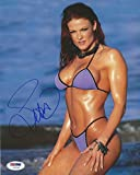Lita Signed WWE 8x10 Photo COA Pro Wrestling Diva Picture Autograph SEXY - PSA/DNA Certified - Autographed Wrestling Photos